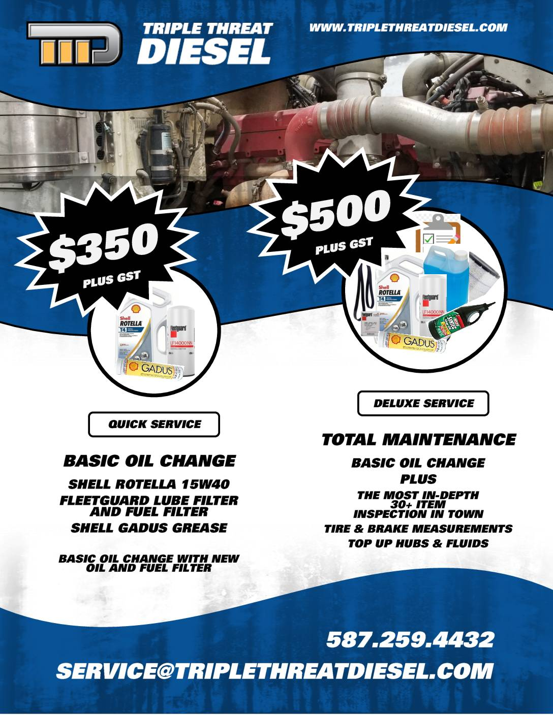 Lube Special Flyer – July 2020